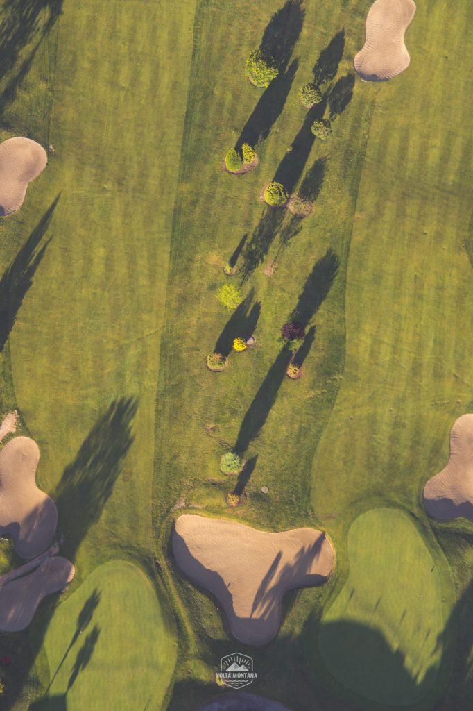 Campo de golf en Mondariz, a vista de globo.