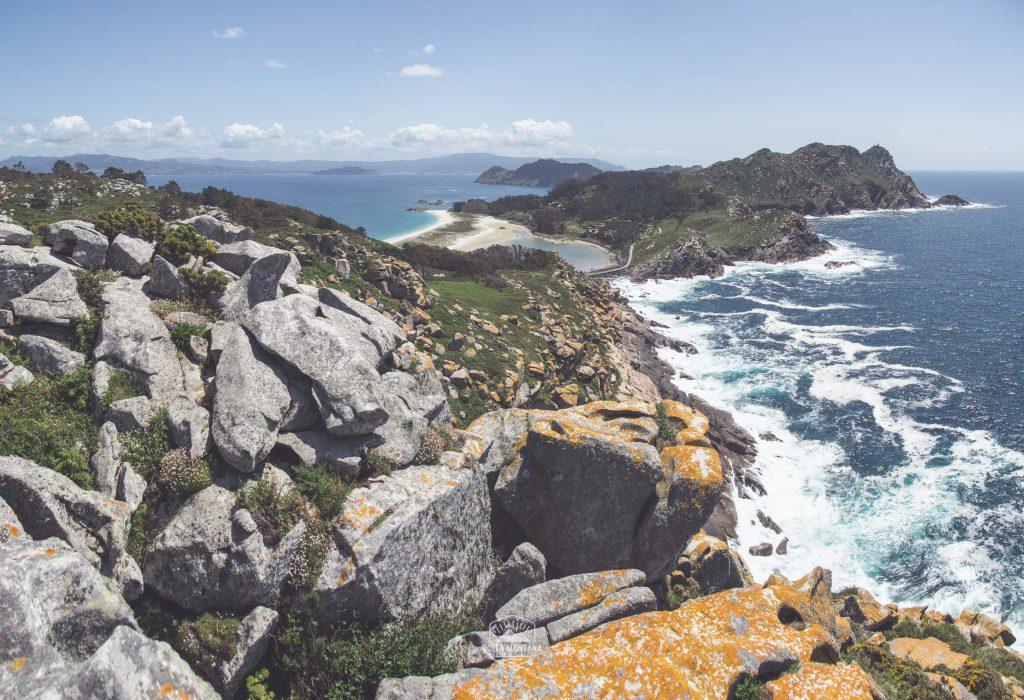 Vista desde O Alto do Príncipe, en Islas Cíes