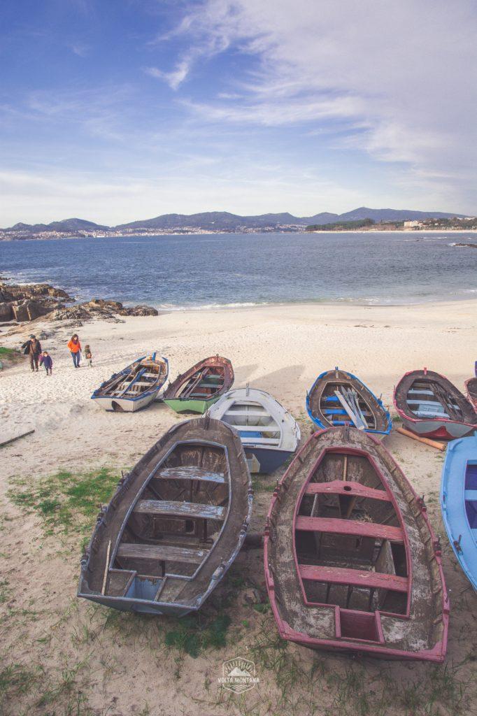 Barcas en la arena, Ría de Vigo.
